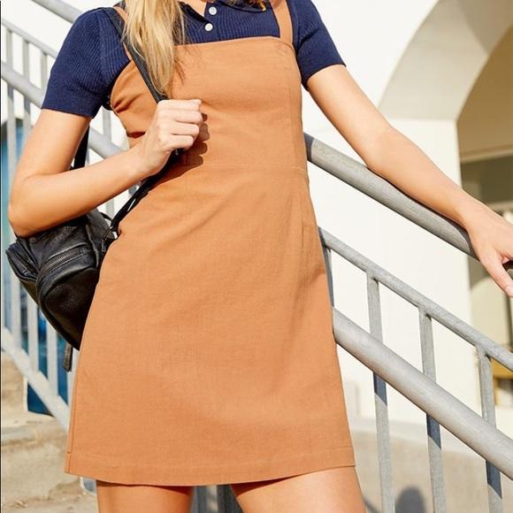 a57c0d88d1 NWT Kendall+Kylie Tan Preppy Linen Dress
